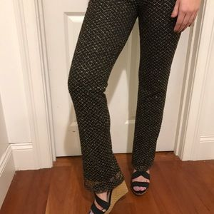 Express black and gold sparkle pants. Size small